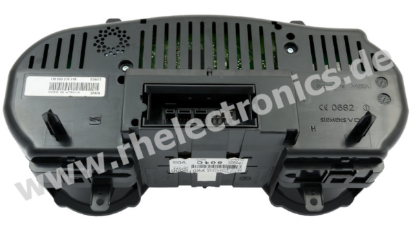 Repair control panel insert / instrument cluster S08 Seat Leon year of construction. 2007