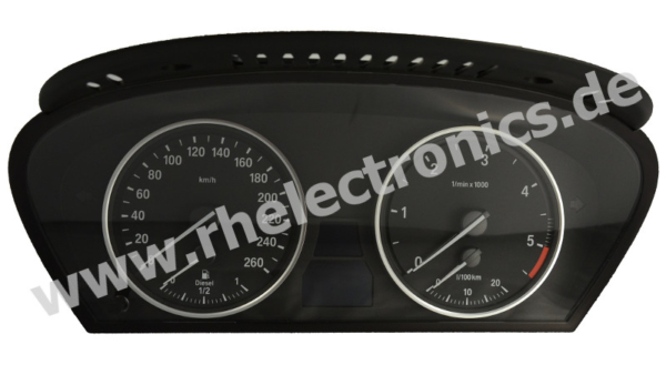 Repair panel insert / Instrument cluster / Speedometer for BMW E60 / E61 - S28