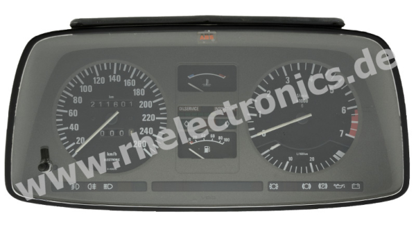 Repair control panel insert, instrument cluster, speedo BMW 735i - S37
